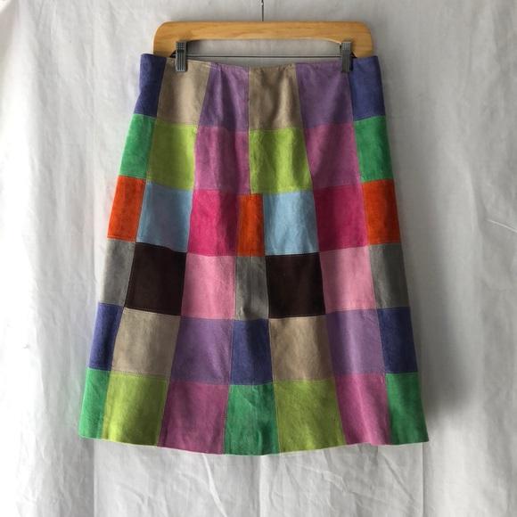 357010de83 Isaac Mizrahi Skirts | Target Patchwork Suede Skirt Size 10 | Poshmark
